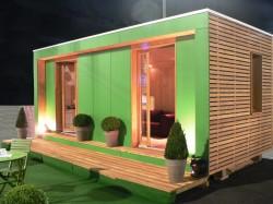 Bulle de vente en bois pour promoteurs immobiliers - Bureau de vente immobilier ...
